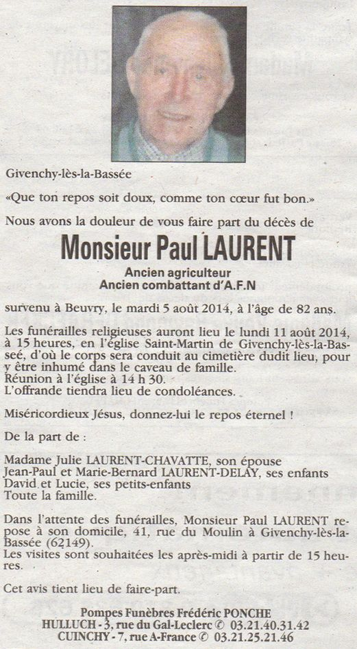 Mr Paul LAURENT